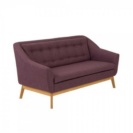 Couch Alba in Violett im Retro Design