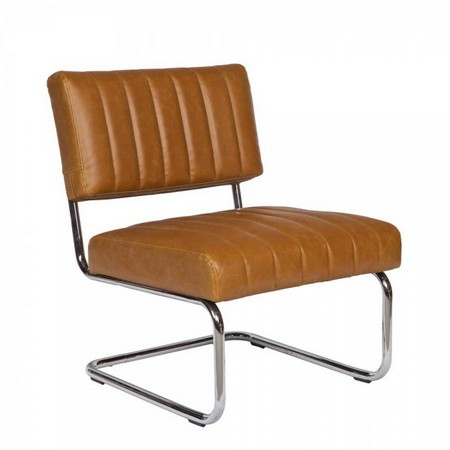 Loungesessel Lilames in Braun im Retro Design